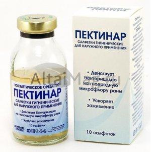 Пектинар гель Доктор Пектин со стерильными салфетками 14x16 см №10